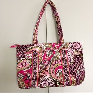 Vera Bradley Very Berry Paisley Pink Shoulder Bag